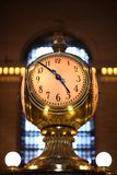 Grand central clock. Grand central station in new york city famous clock Stock Images