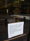 Grand Central closed due to Hurricane Irene Royalty Free Stock Photo