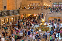 Grand Central Commuters. Commuters inside Grand Central Terminal during rush hour on July 26 2012 in New York City Stock Photo