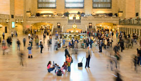 Grand Central Commuters. View of commuters in main terminal at Grand Central in New York Royalty Free Stock Photography