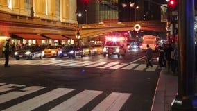 Grand Central Eindnew york in Kerstmis stock footage