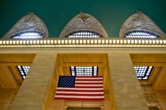Grand Central -Endstelle-Flagge, New York, Lizenzfreie Stockfotografie