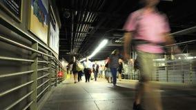 Grand Central -het Platform van de Treinmetro - Klem 4 van de Tijdtijdspanne stock videobeelden