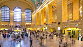 Grand central inside rush hour traffic 4k time lapse from new york