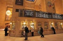 Grand Central järnvägsstationinre, New York, USA Arkivfoto