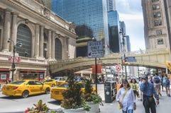 Grand Central längs den 42nd gatan, New York City Royaltyfria Foton