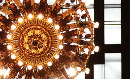 The Grand Central Light. One of Grand Central`s station light fixtures Royalty Free Stock Image