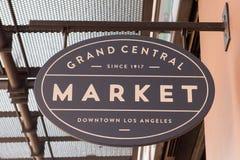 Grand Central -Markt-Zeichen stockbild