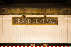 Grand Central -Post stock afbeeldingen