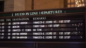 Grand Central railway station. Indoors display in New York stock video footage