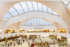 Grand Central shopping centre Birmingham. New Street train station / Grand Central is a shopping centre located in Birmingham, England, that opened on 24 stock image