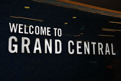 Grand Central sign, Birmingham. Royalty Free Stock Image