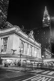 Grand Central slutlig fasad från Park Avenue Arkivbild