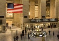 Grand Central slutlig folkhop, New York Royaltyfria Foton