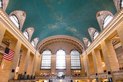 Grand Central slutlig huvudsaklig folkhop Arkivfoto