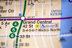Grand Central 42 St Lexington Av, Pelham uttrycklig linje NYC USA Royaltyfria Bilder