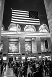 Grand Central Station in Black and White Royalty Free Stock Photos