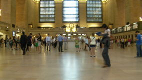 Grand Central Station Crowds - Clip 10. Time Lapse of Grand Central Station NYC stock video