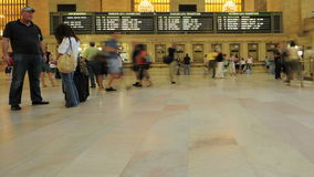 Grand Central Station Crowds - Clip 3. Time Lapse of the train platform at Grand Central Station NYC.   Thanks for looking stock video footage