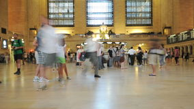 Grand Central Station Crowds - Clip 6. Time Lapse of the train platform at Grand Central Station NYC.   Thanks for looking stock footage