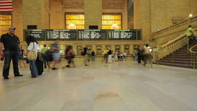 Grand Central Station Crowds - Clip 4. Time Lapse of the train platform at Grand Central Station NYC.   Thanks for looking stock footage