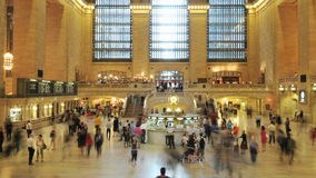 Grand Central Station Crowds - Clip 8. Time Lapse of the train platform at Grand Central Station NYC.   Thanks for looking stock footage