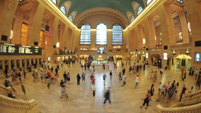 Grand Central Station Fisheye Lens 4. Time Lapse of the train platform at Grand Central Station NYC.   Thanks for looking stock footage