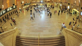 Grand Central Station Fisheye Lens 3. Time Lapse of the train platform at Grand Central Station NYC.   Thanks for looking stock video