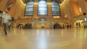 Grand Central Station Fisheye Lens 2. Time Lapse of the train platform at Grand Central Station NYC.   Thanks for looking stock footage