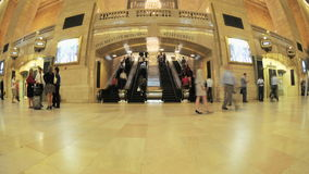 Grand Central Station Fisheye Lens 1. Time Lapse of the train platform at Grand Central Station NYC.   Thanks for looking stock footage