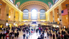 Grand Central. Station in New York City time lapse with blured people stock video