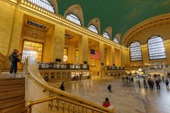 Grand Central Station of New York City royalty free stock photo