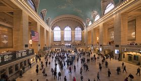Grand Central Station New York. City in the busy morning rush Stock Photos