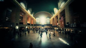Grand Central Station New York Time Lapse. A time lapse in New York City Grand Central Station stock footage