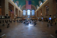 Grand central station - NYC. View inside the Main Concourse, facing east Royalty Free Stock Photography