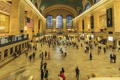 Grand Central Station på en upptagen dag arkivbild