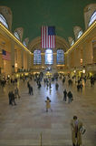 Grand Central Station panoramic view with American Flag at Amtrak Station in New York City, NY Royalty Free Stock Photo