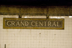 Grand central station subway sign in New York City, USA Stock Image