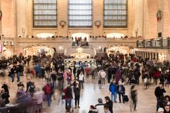Grand Central Station Terminal in Manhattan at holiday time royalty free stock photos