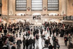Grand Central Station Terminal in Manhattan at holiday time royalty free stock image