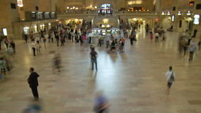 Grand Central Station Time Lapse Crowd - Clip 5. Time Lapse of Grand Central Station NYC stock video footage