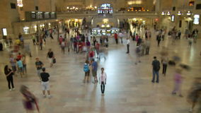 Grand Central Station Time Lapse Crowd - Clip 3. Time Lapse of Grand Central Station NYC stock video footage