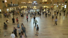 Grand Central Station Time Lapse Crowd - Clip 11. Time Lapse of Grand Central Station NYC stock video footage