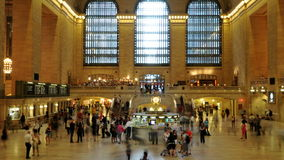 Grand Central Station - Time Lapse -  4K. 4K Time Lapse of  Grand Central Station NYC stock video footage