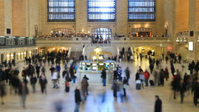 Grand Central Station Time Lapse. Time lapse of Grand Central Station pedestrian traffic using a tilt shift lens stock footage