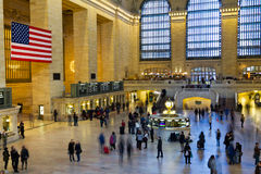 Grand Central Station Travelers Stock Photo