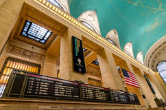 Grand Central Termiinal / Station Interior. The Interior of the Grand Central Terminal/Station Main Concourse. Featuring the lights overhead, ceiling, American Stock Photos