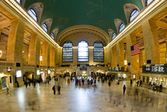 Grand Central Terminal. Wide view of the interior of Grand Central Terminal train station in New York, NY Royalty Free Stock Photos
