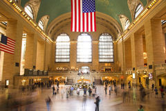 Grand Central Terminal. Commuters in motion in Grand Central Terminal in New York Stock Photos