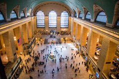 Grand central terminal. From above Stock Photography